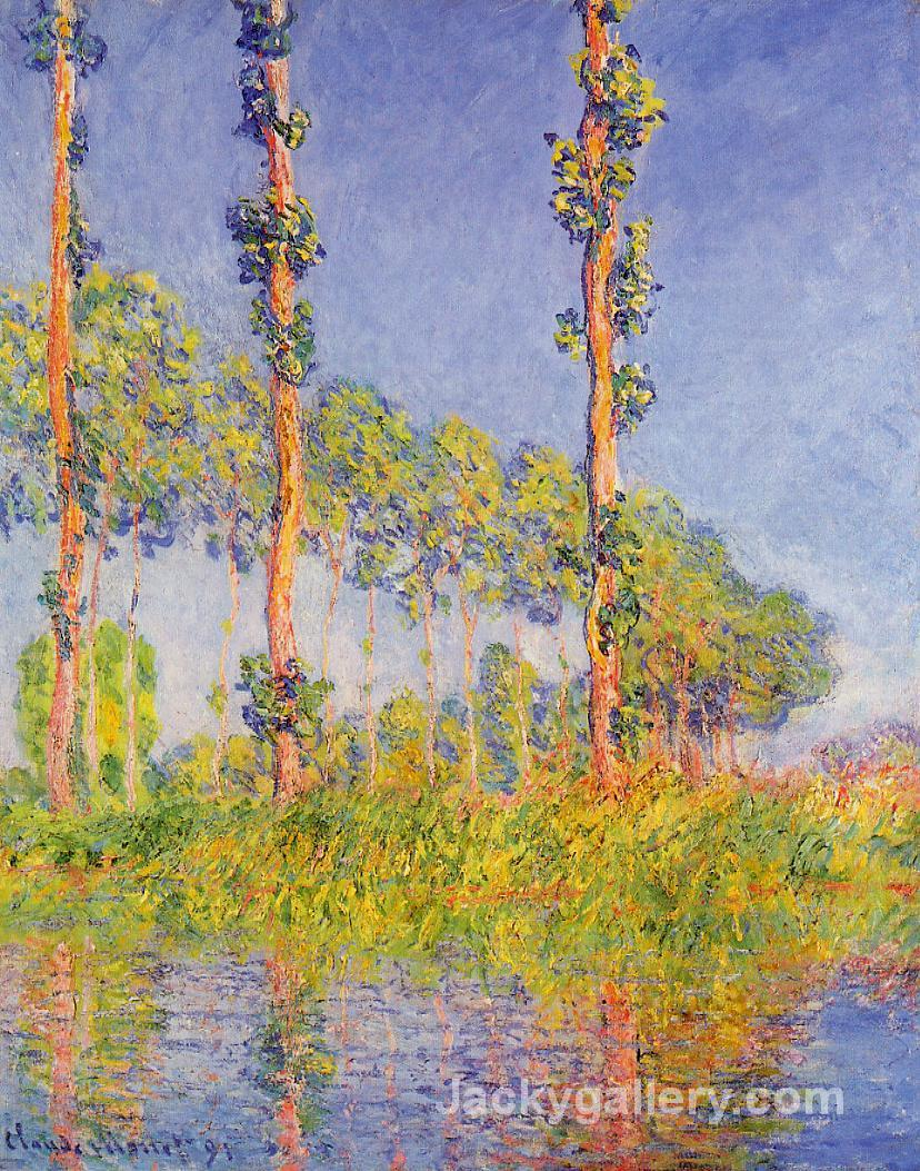 Three Trees, Autumn Effect by Claude Monet paintings reproduction