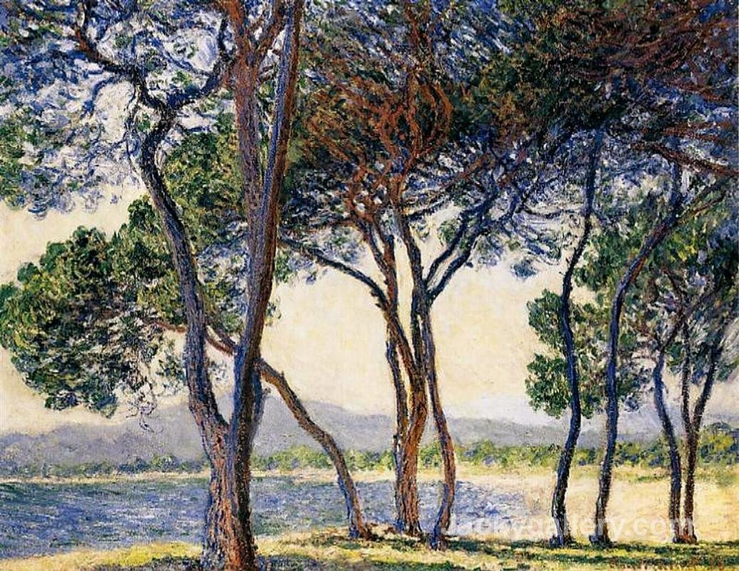 Trees by the Seashore at Antibes by Claude Monet paintings reproduction