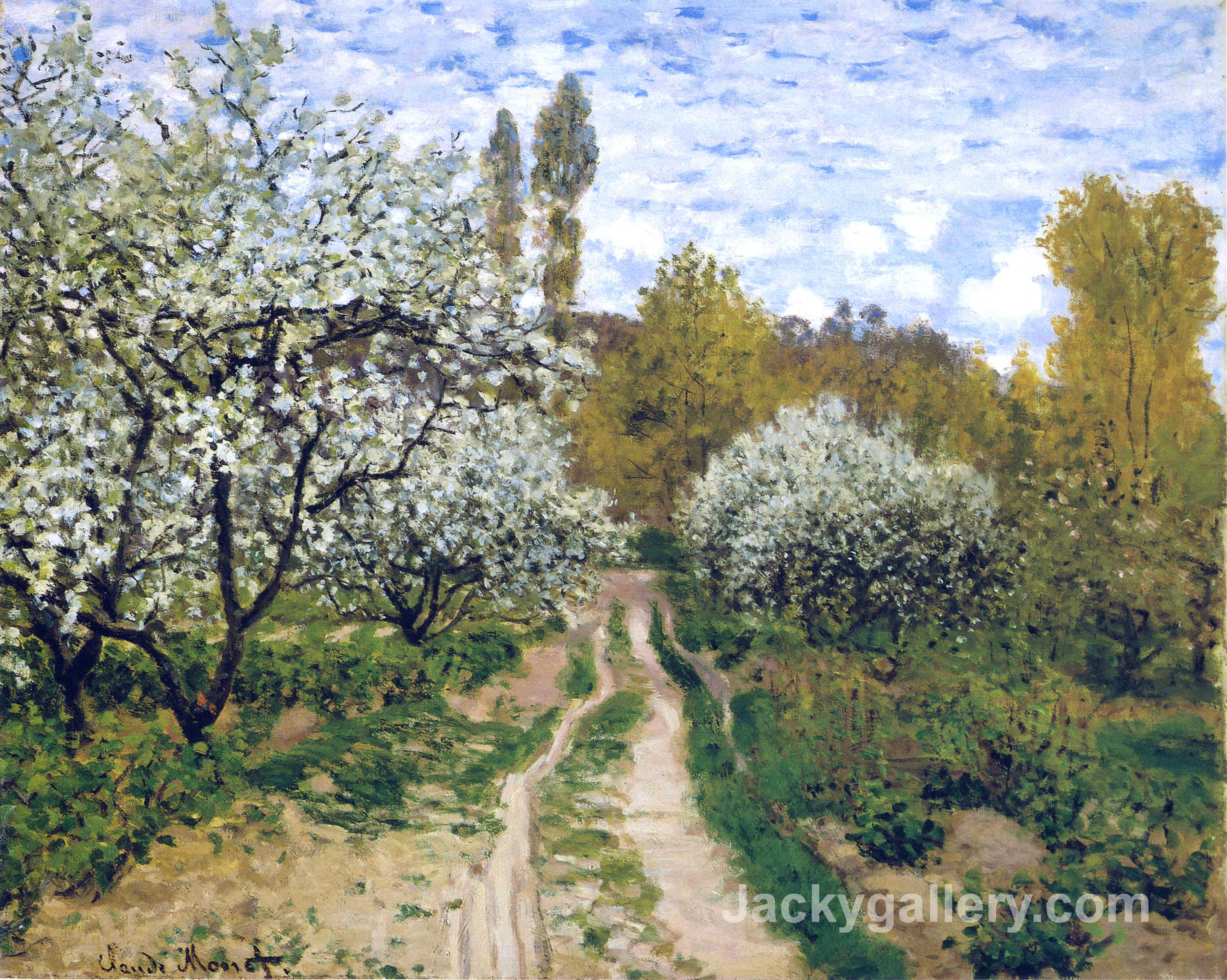 Trees in Bloom by Claude Monet paintings reproduction
