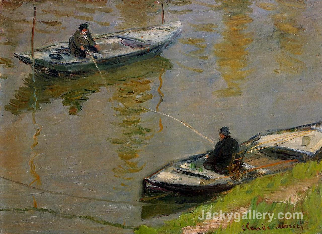 Two Anglers by Claude Monet paintings reproduction