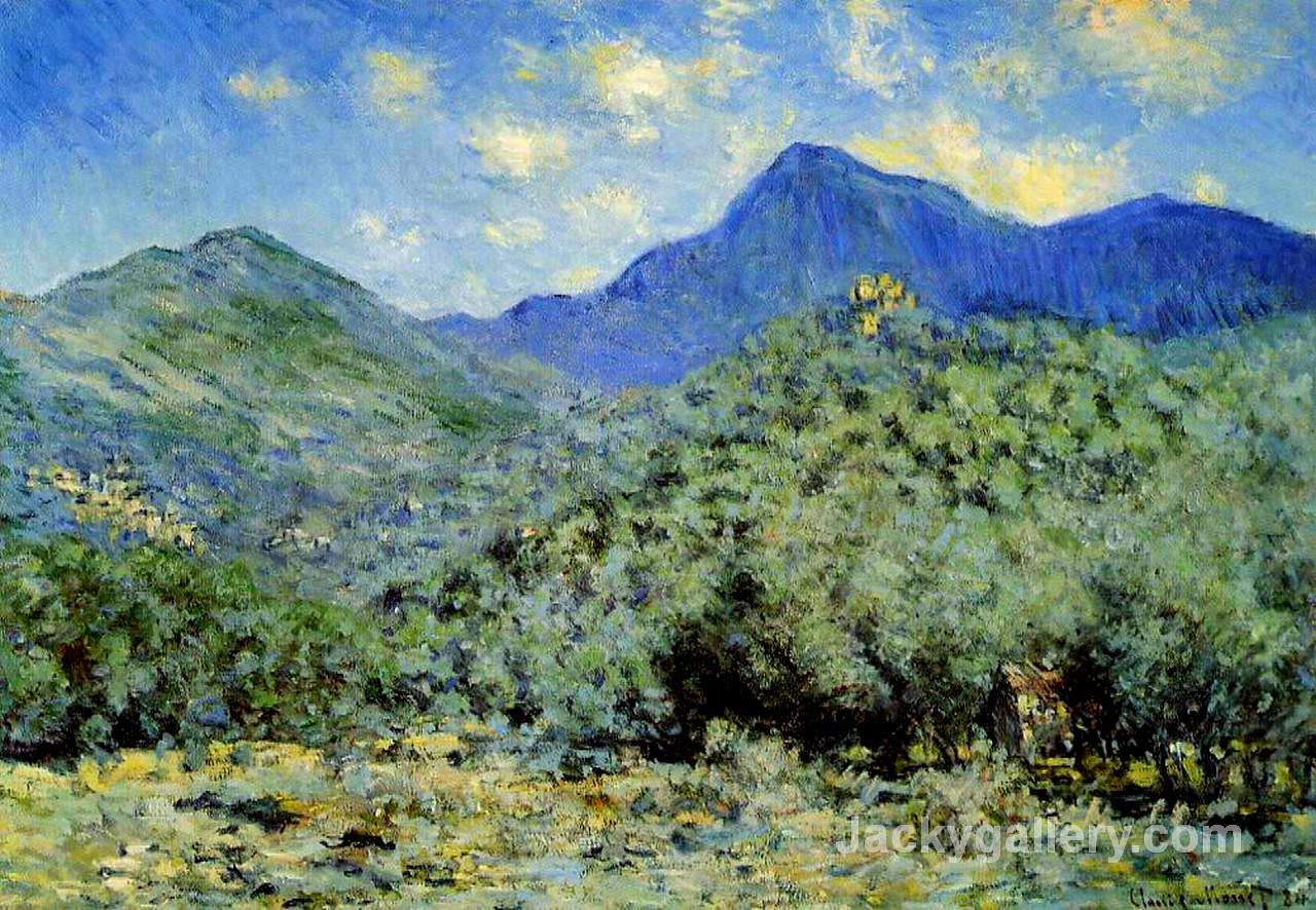 Valley Bouna near Bordighera by Claude Monet paintings reproduction
