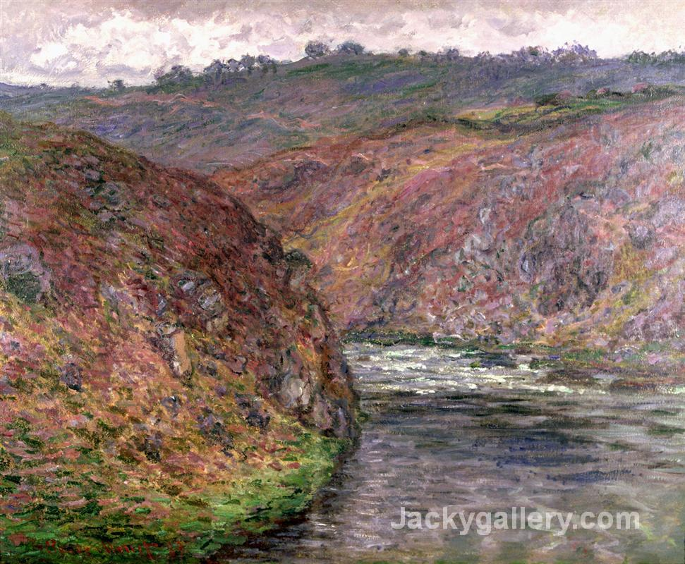 Valley of the Creuse (Grey Day) by Claude Monet paintings reproduction