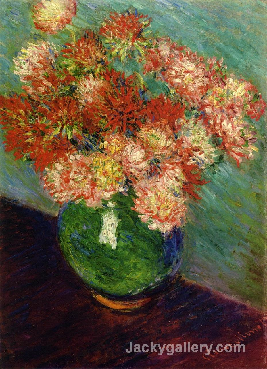 Vase of Chrysanthemums by Claude Monet paintings reproduction