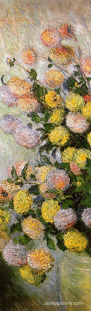 Vase of Dahlias by Claude Monet paintings reproduction