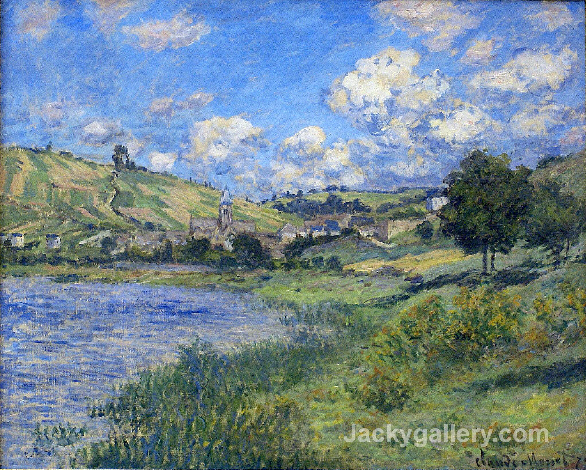 Vetheuil, Paysage by Claude Monet paintings reproduction