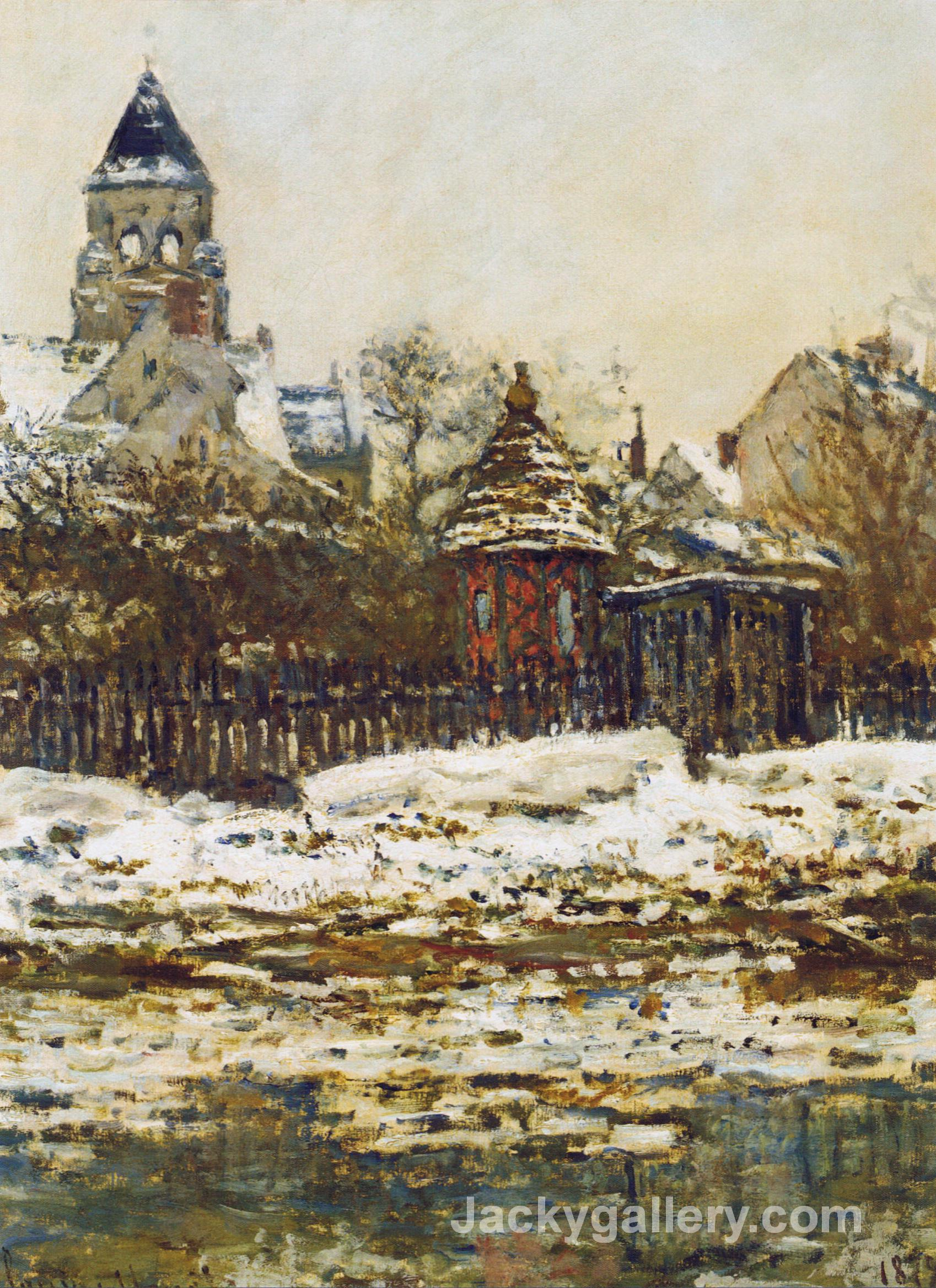 Vetheuil, The Church in Winter by Claude Monet paintings reproduction