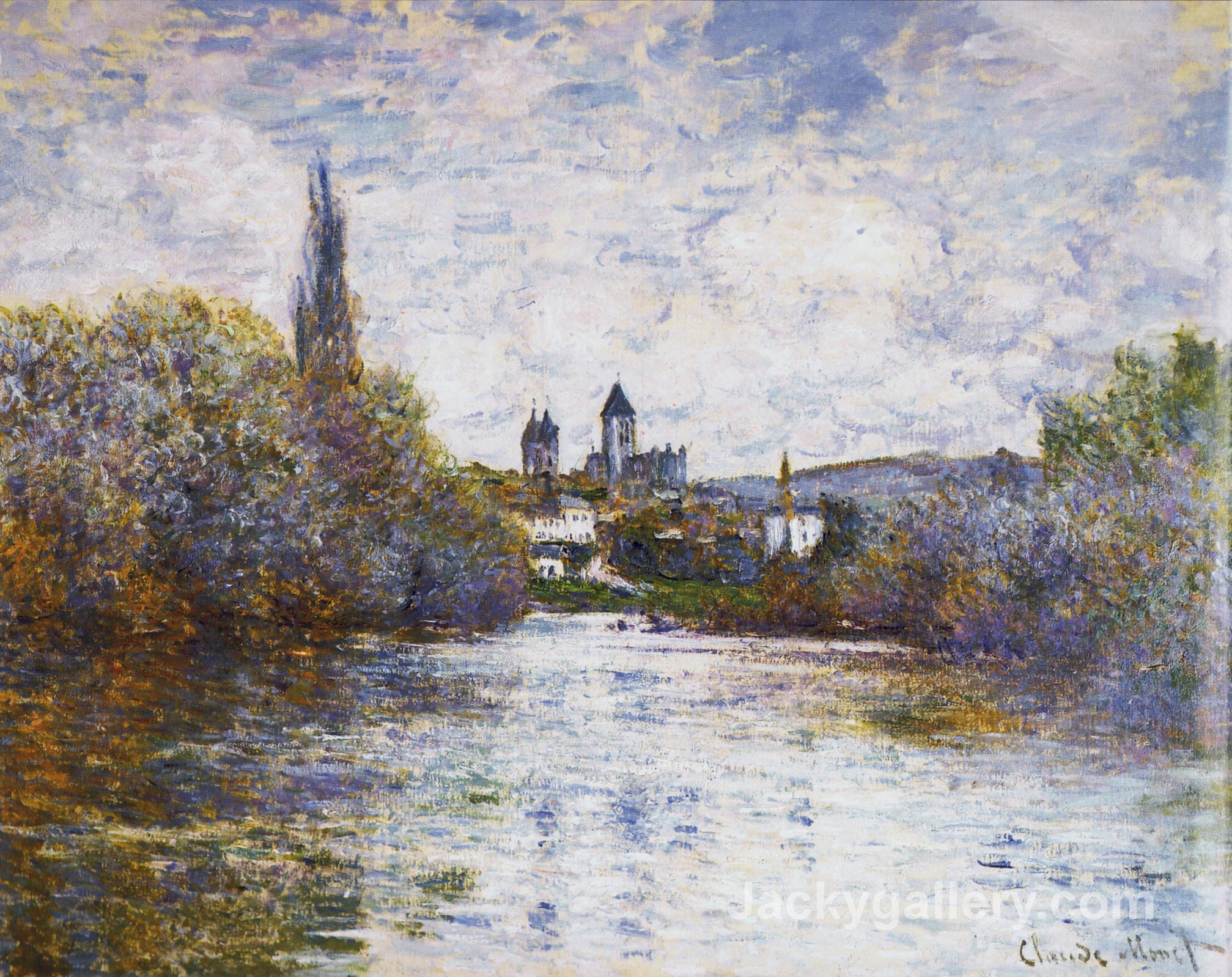 Vetheuil, The Small Arm of the Seine by Claude Monet paintings reproduction