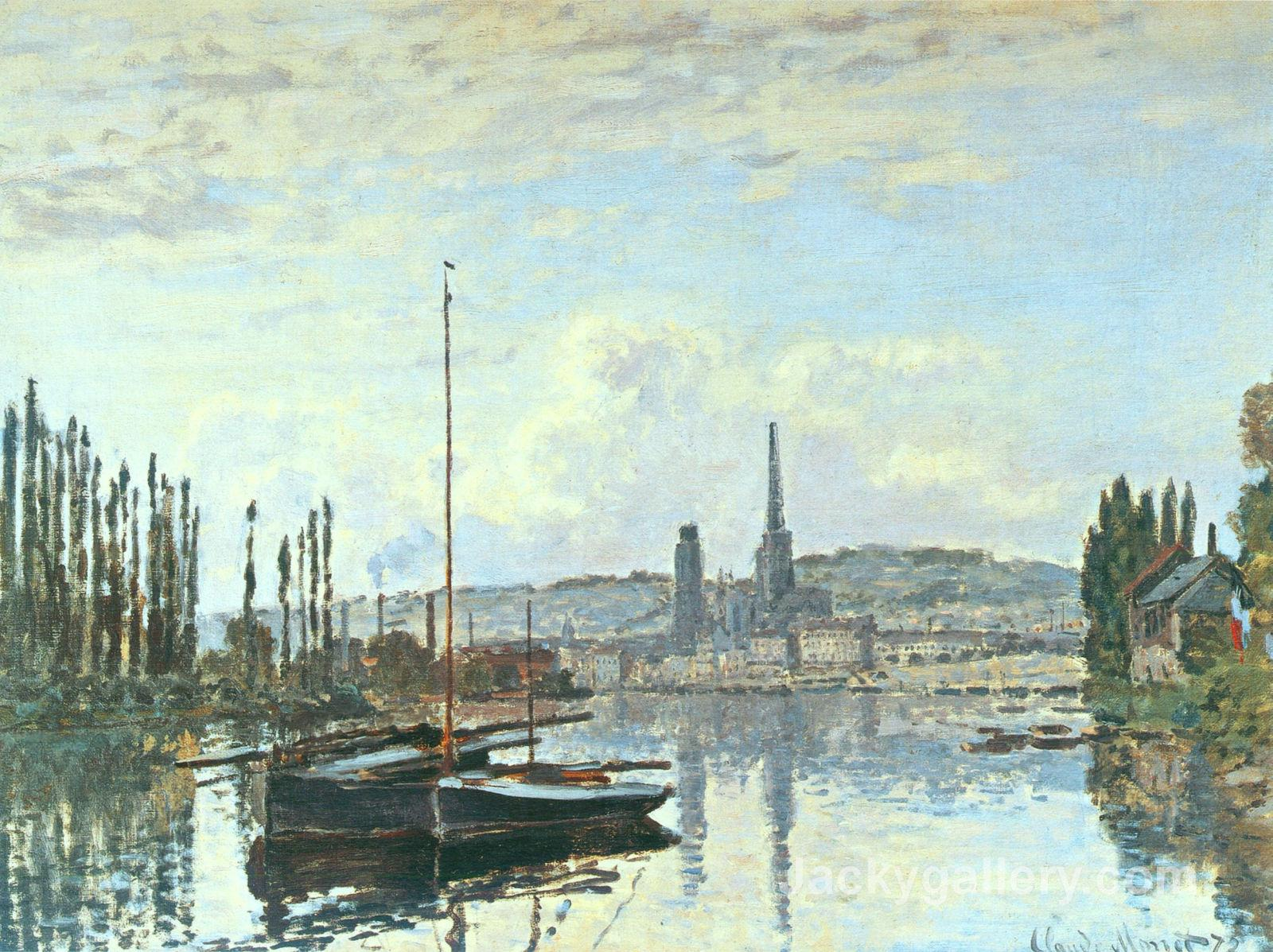 View of Rouen by Claude Monet paintings reproduction