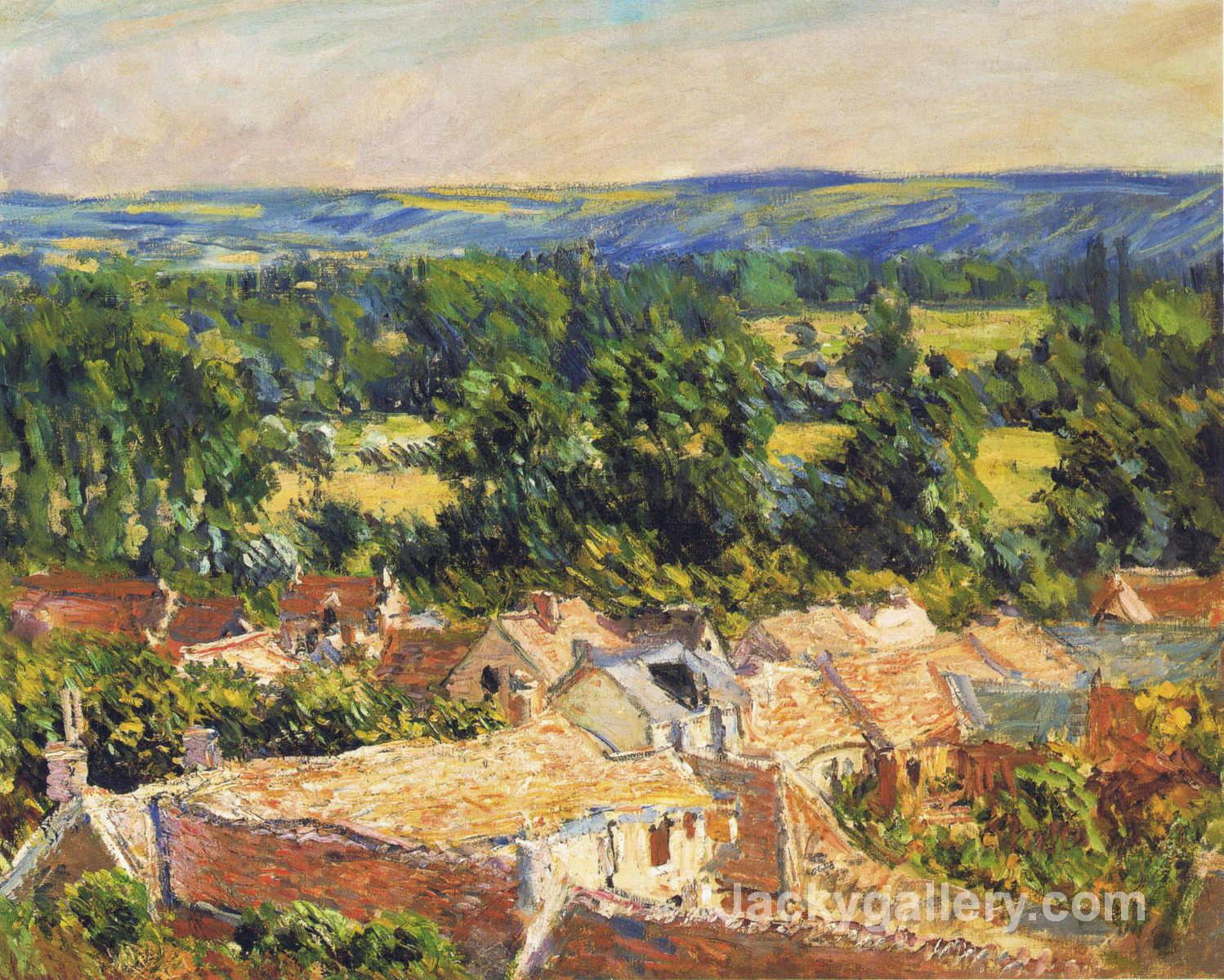 View on village of Giverny by Claude Monet paintings reproduction