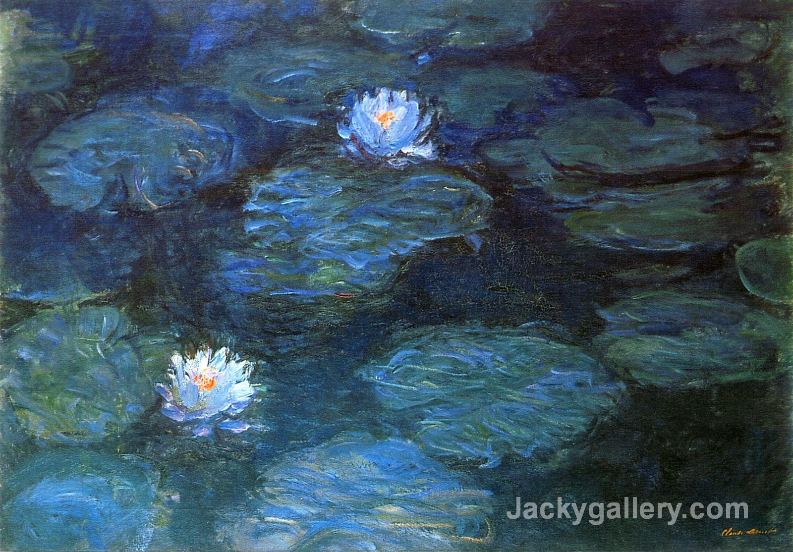 Water Lilies- by Claude Monet paintings reproduction