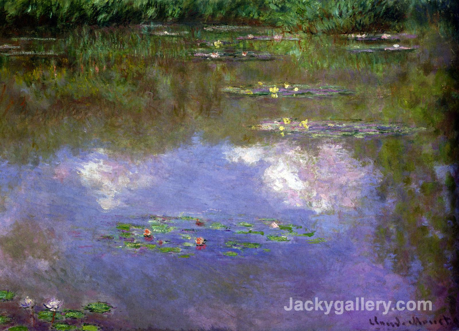 Water Lilies, The Clouds by Claude Monet paintings reproduction