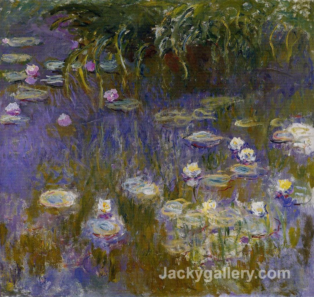 Water Lilies, Yellow and Lilac by Claude Monet paintings reproduction