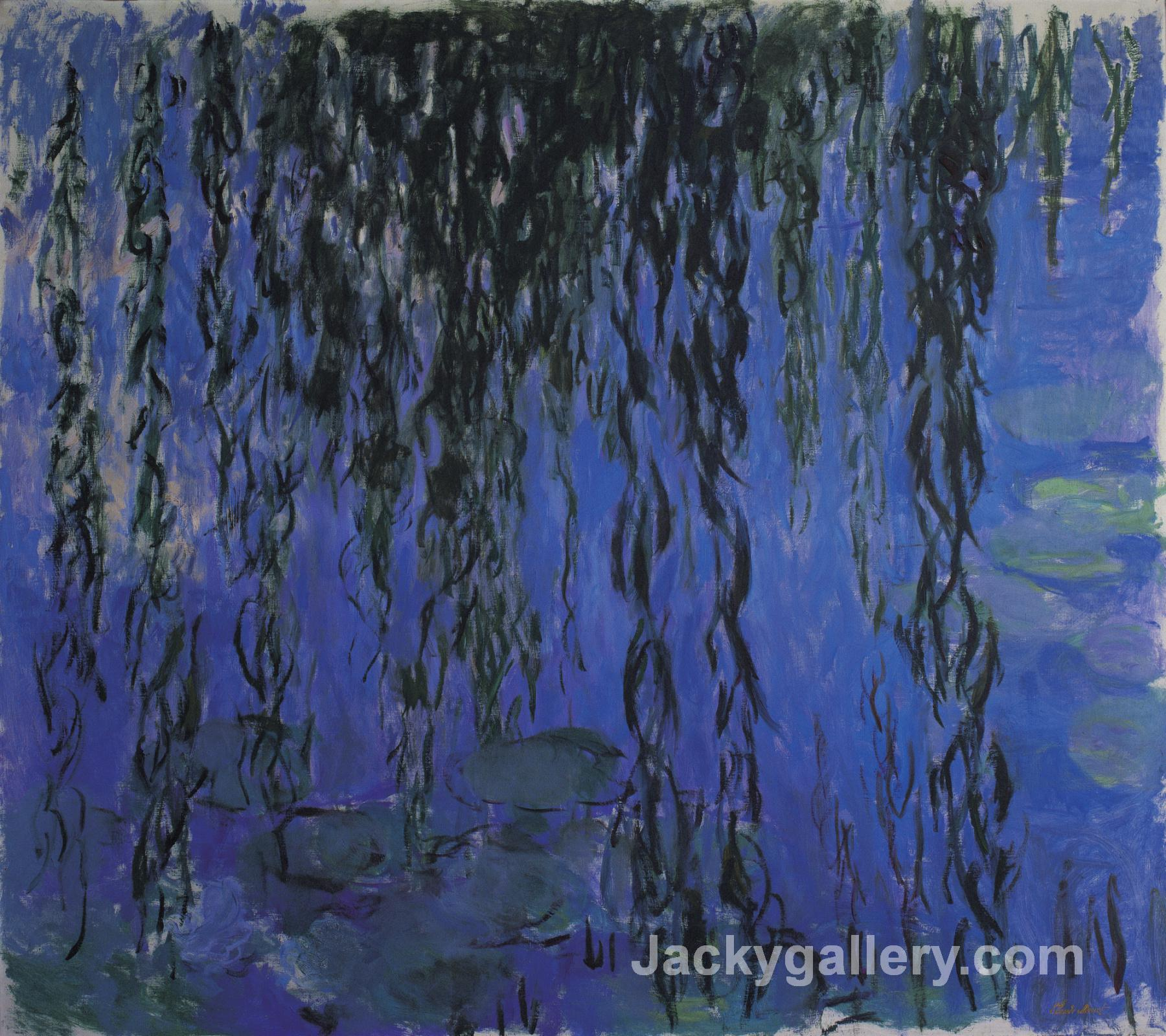 Water Lilies and Weeping Willow Branches by Claude Monet paintings reproduction