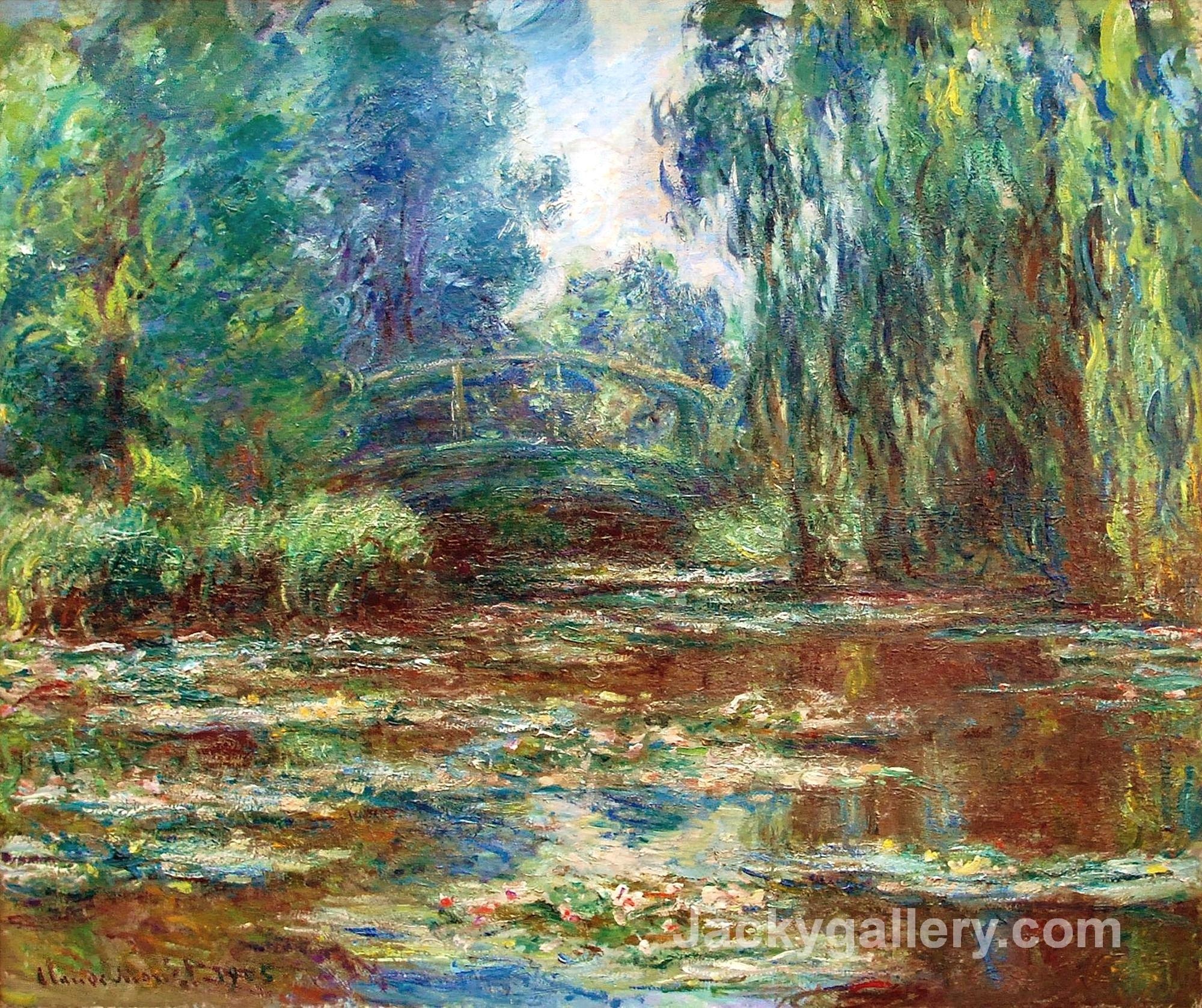 Water Lily Pond and Bridge by Claude Monet paintings reproduction