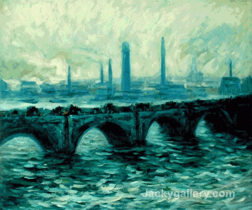 Waterloo Bridge II by Claude Monet paintings reproduction