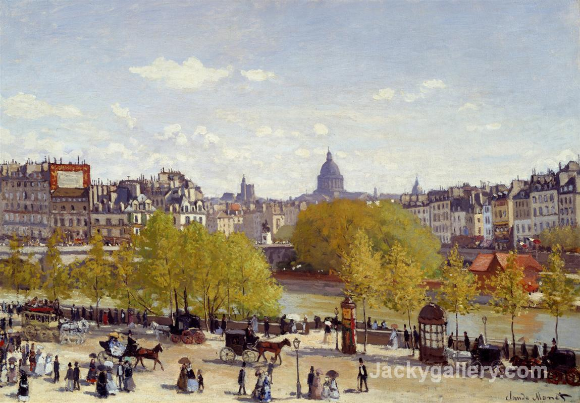 Wharf of Louvre, Paris by Claude Monet paintings reproduction