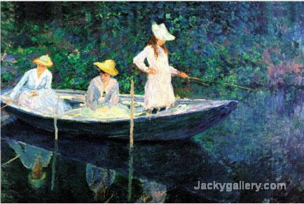 Women Fishing by Claude Monet paintings reproduction