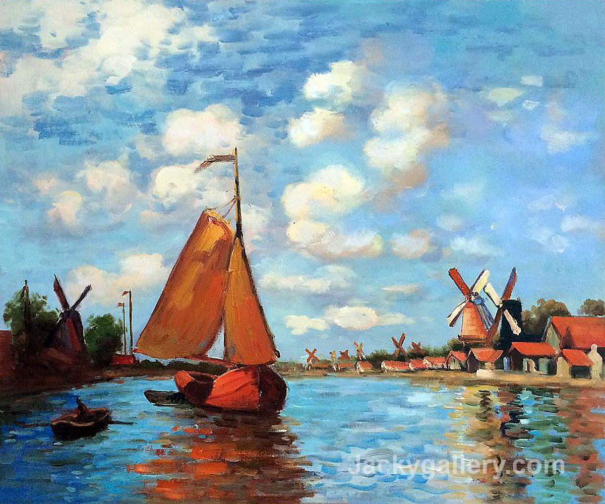 Zaan at Zaandam by Claude Monet paintings reproduction