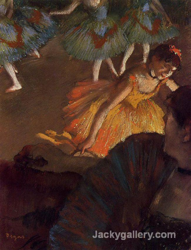 A Ballet Seen From the Opera Box by Edgar Degas paintings reproduction