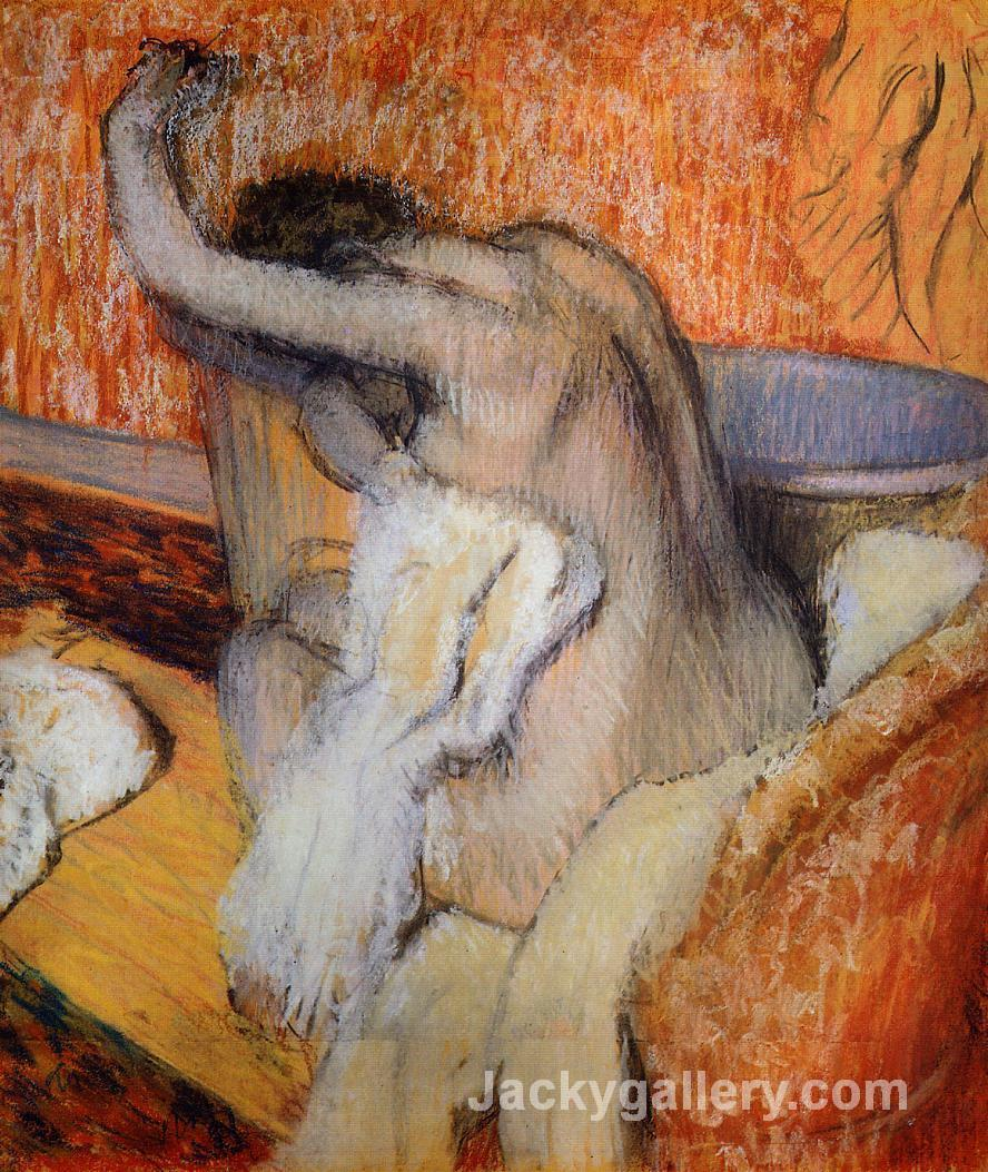 After the Bath (Woman Drying Herself) by Edgar Degas paintings reproduction