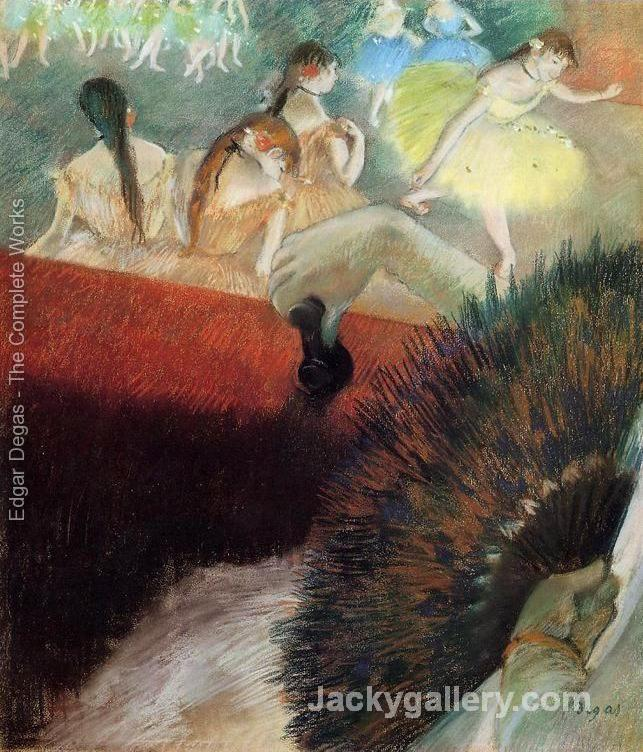 At The Ballet by Edgar Degas paintings reproduction