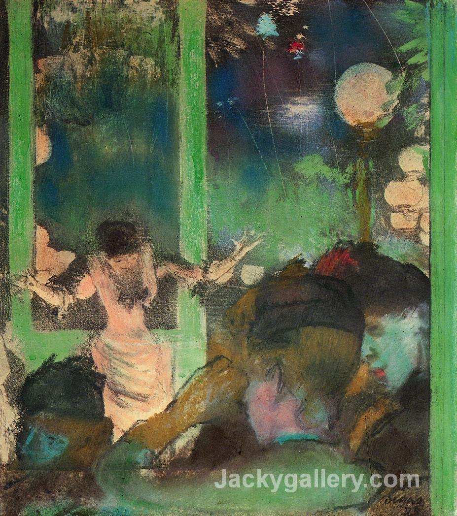 At the Cafe des Ambassadeurs by Edgar Degas paintings reproduction