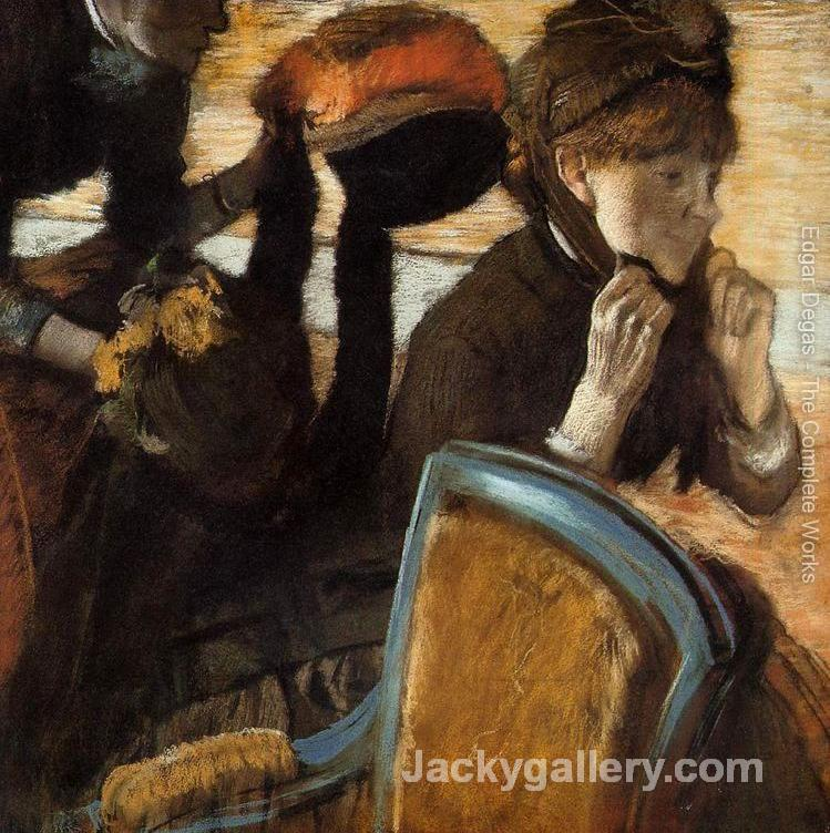 At the Milliners II by Edgar Degas paintings reproduction