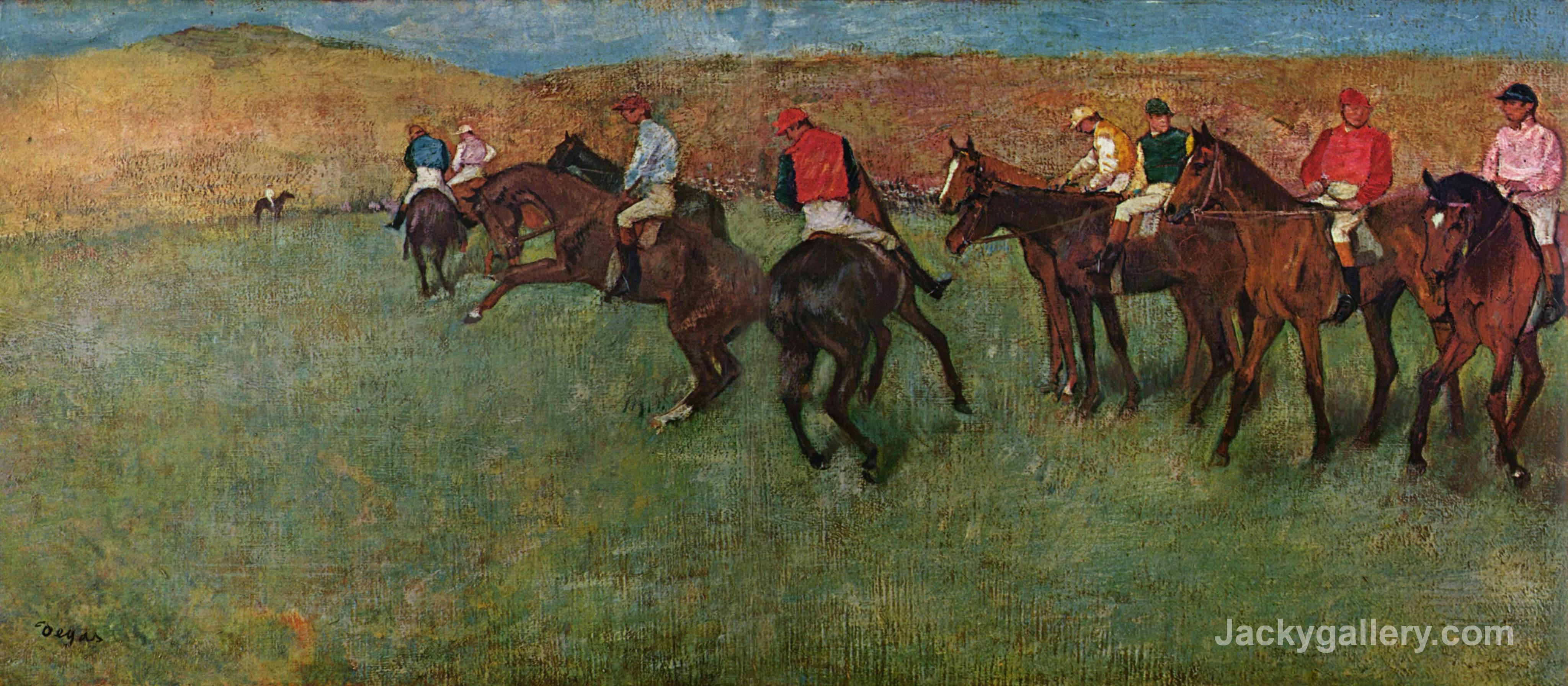 At the Races - Before the Start by Edgar Degas paintings reproduction