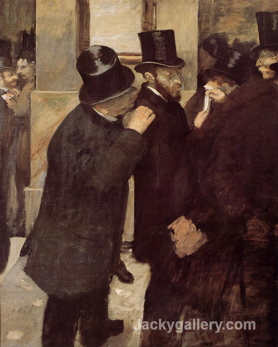 At the Stock Exchange by Edgar Degas paintings reproduction