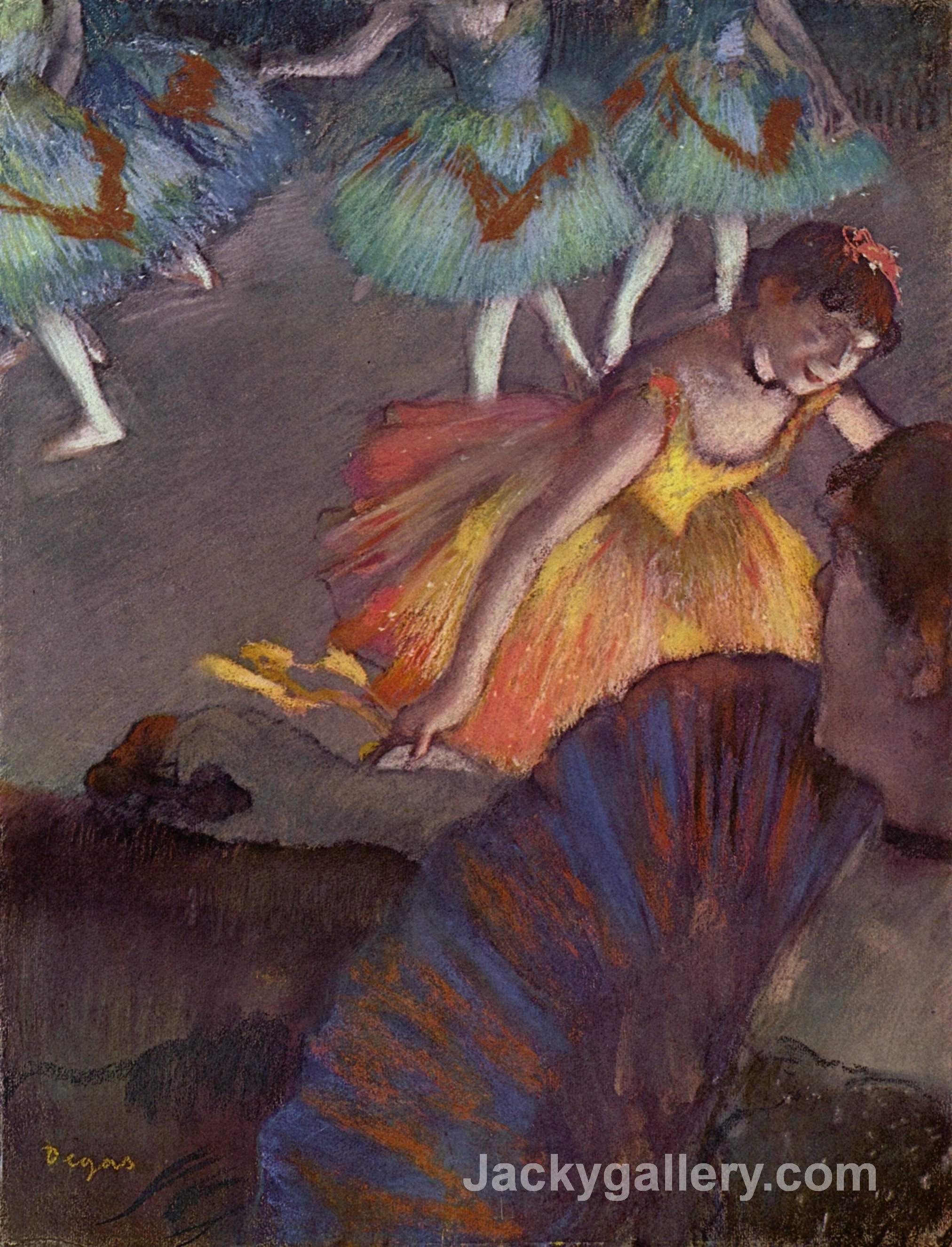 Ballerina and Lady with a Fan by Edgar Degas paintings reproduction