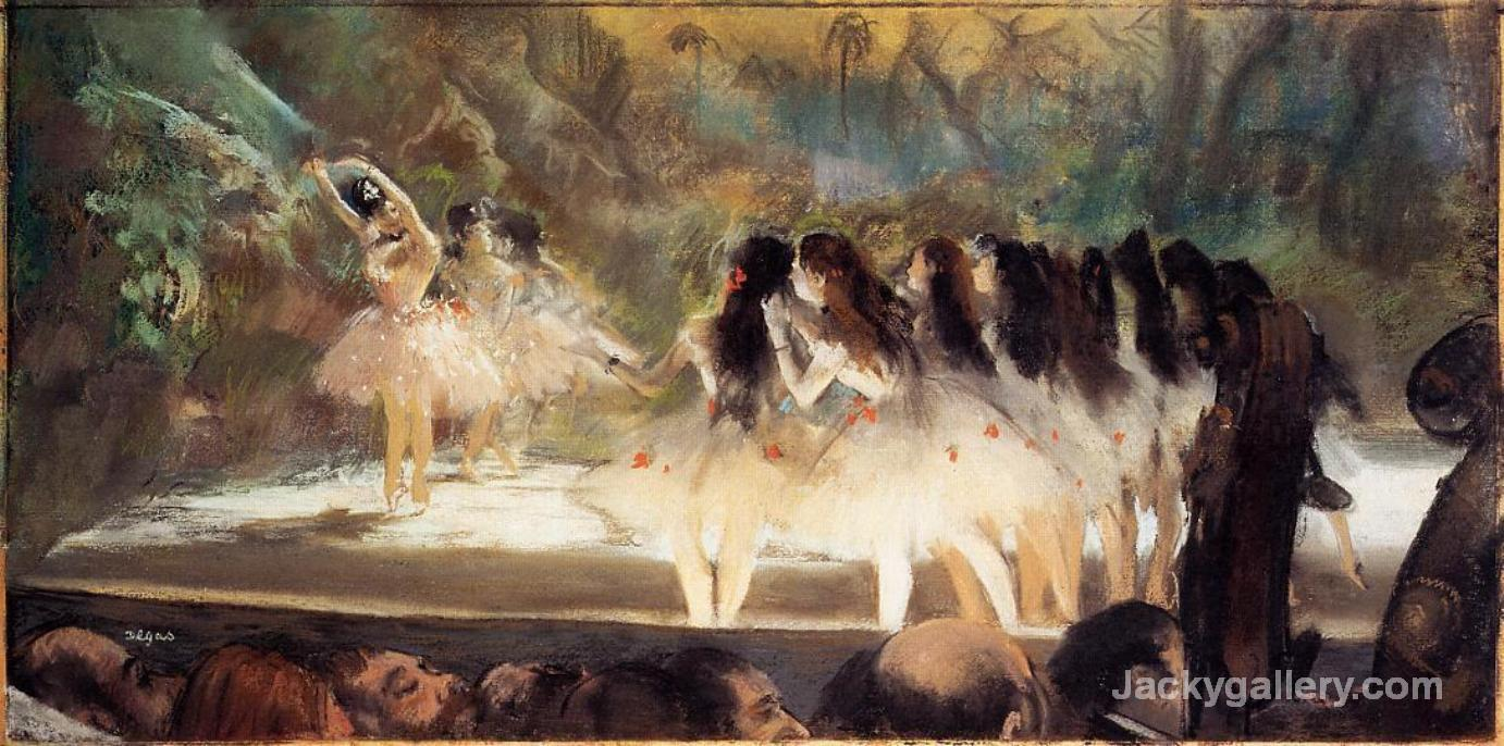 Ballet at the Paris Opera by Edgar Degas paintings reproduction