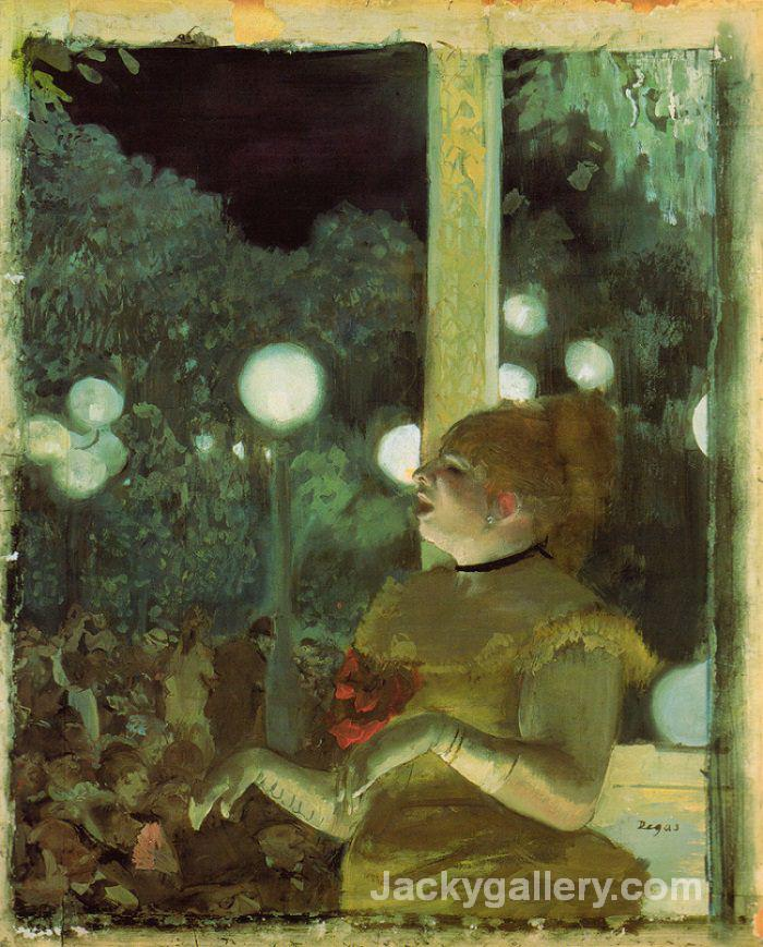 Cafe Concert- The Song of the Dog by Edgar Degas paintings reproduction