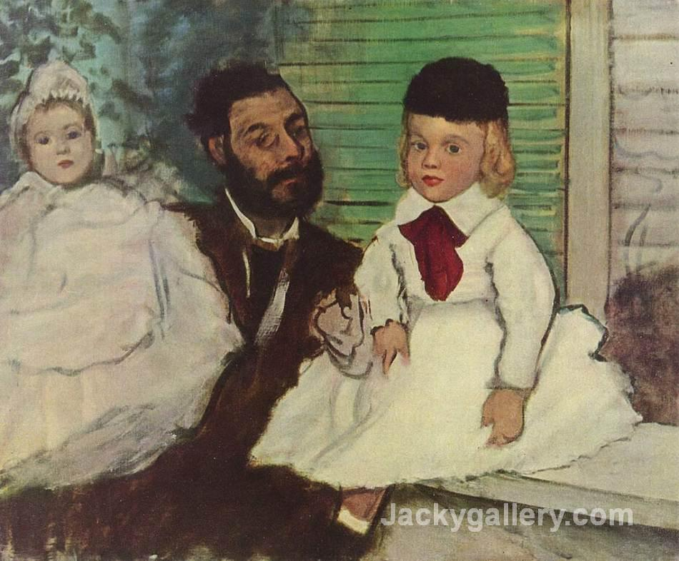 Count Lepic and His Daughters by Edgar Degas paintings reproduction