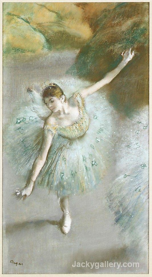 Dancer in Green. by Edgar Degas paintings reproduction