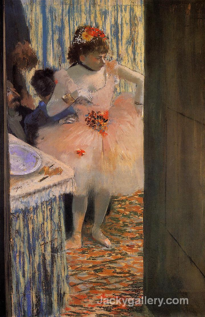 Dancer in her dressing room by Edgar Degas paintings reproduction