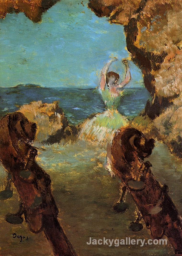 Dancer on Stage by Edgar Degas paintings reproduction