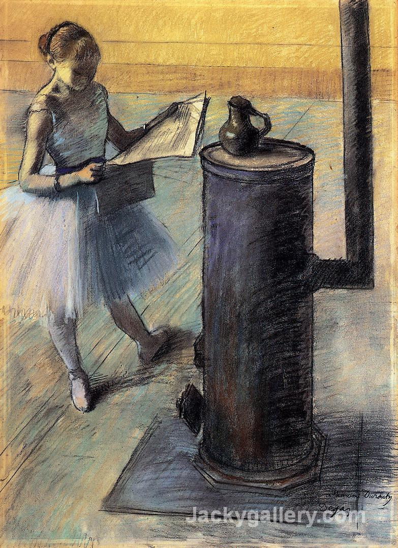 Dancer resting by Edgar Degas paintings reproduction