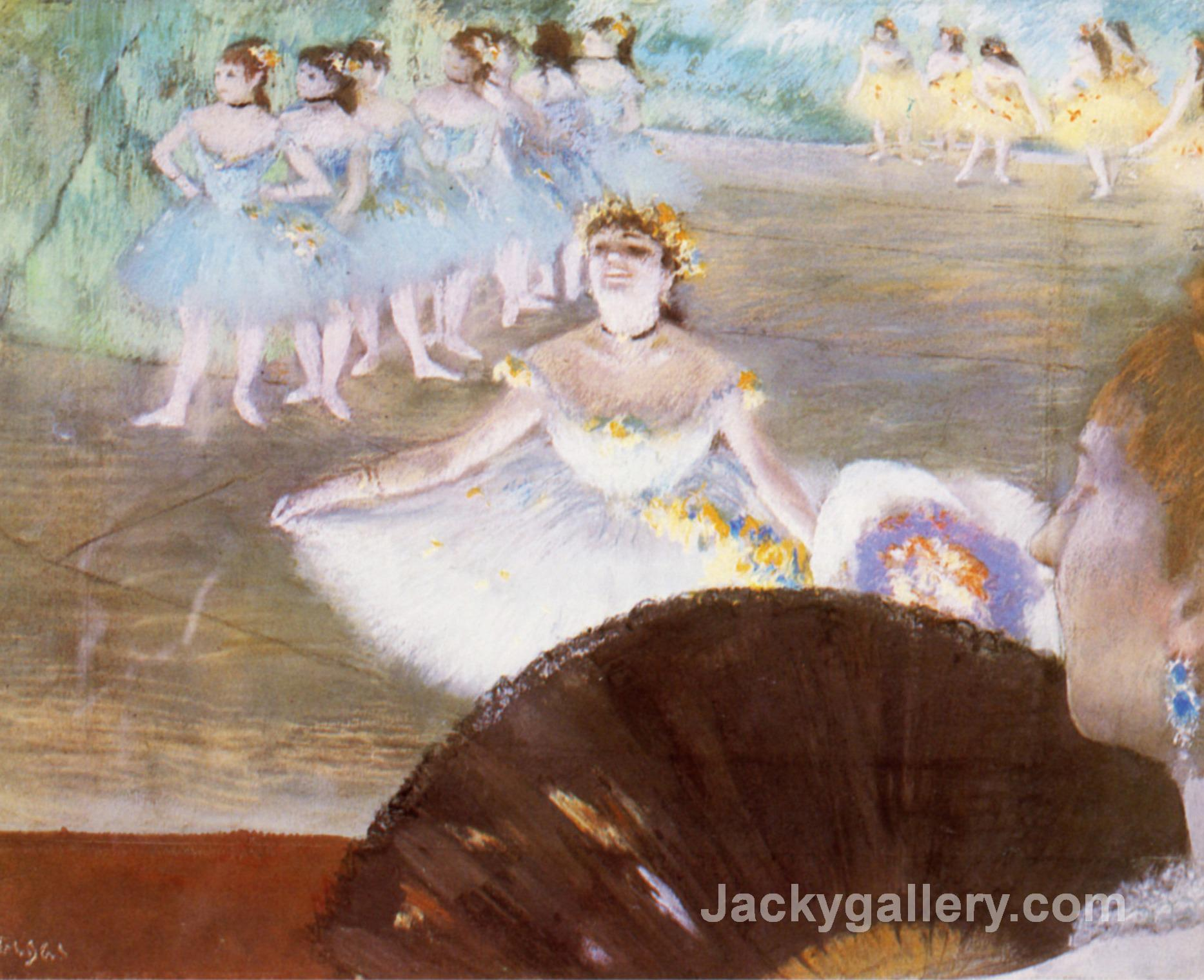 Dancer with a Bouquet of Flowers by Edgar Degas paintings reproduction
