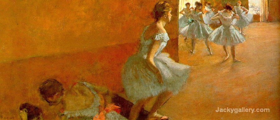 Dancers Climbing the Stairs by Edgar Degas paintings reproduction