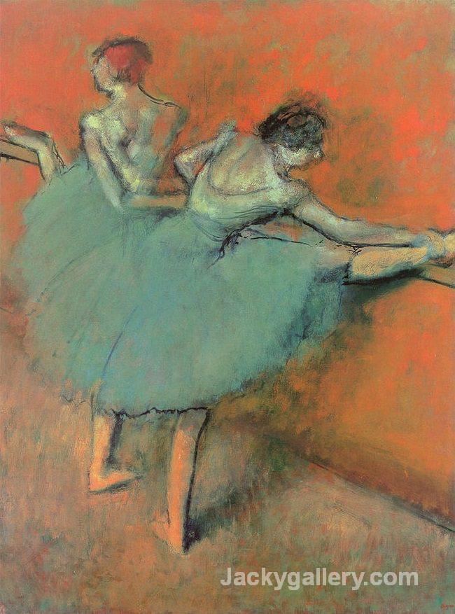 Dancers at the Barre- by Edgar Degas paintings reproduction