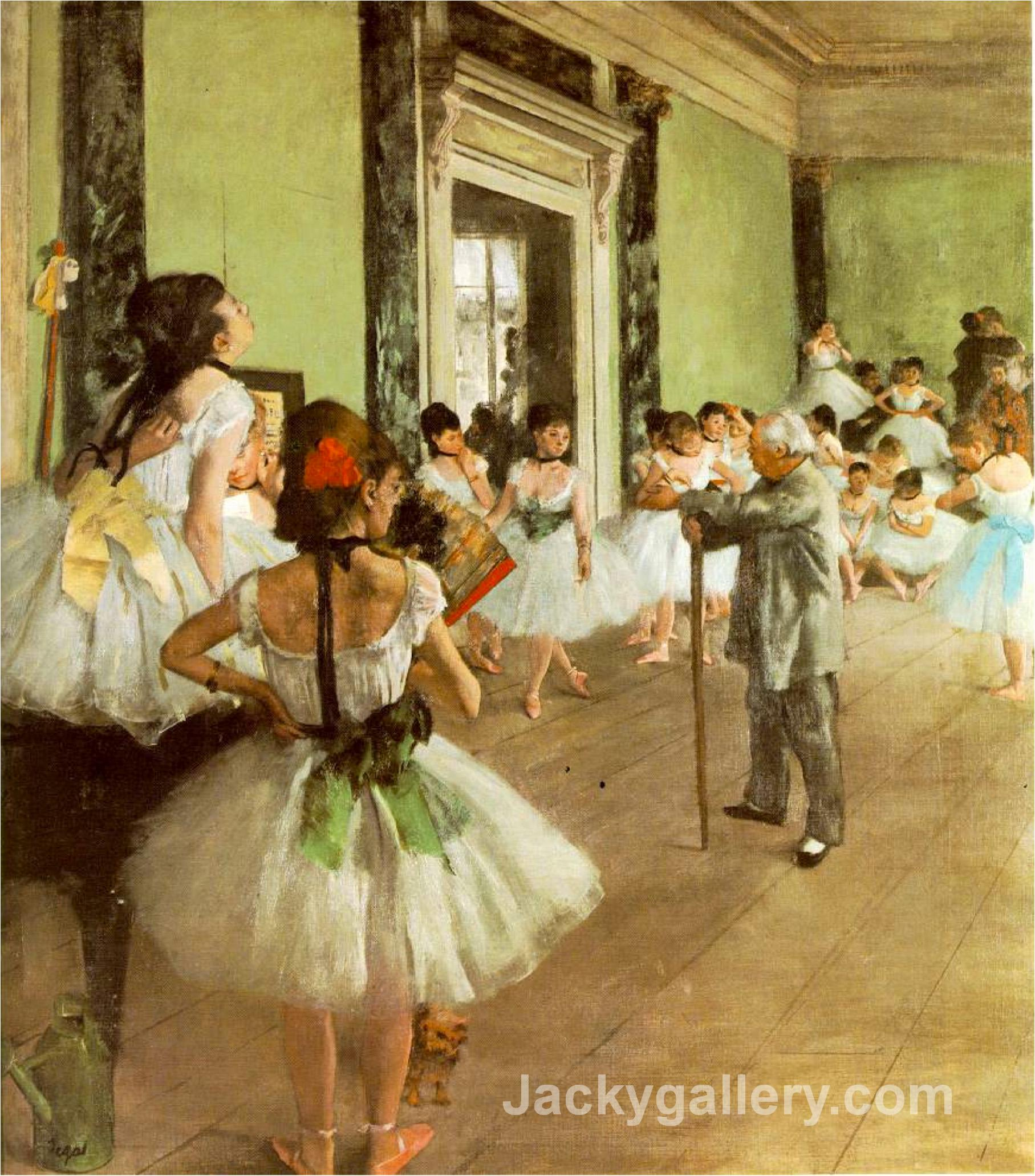 Dancing Class by Edgar Degas paintings reproduction