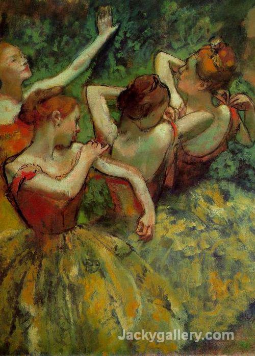 Four Dancers, (detail) by Edgar Degas paintings reproduction
