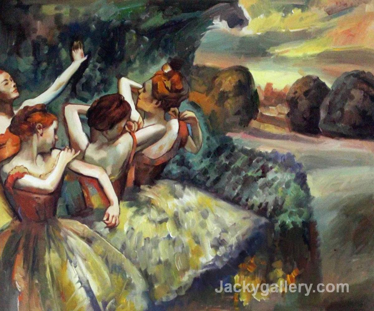 Four Dancers by Edgar Degas paintings reproduction