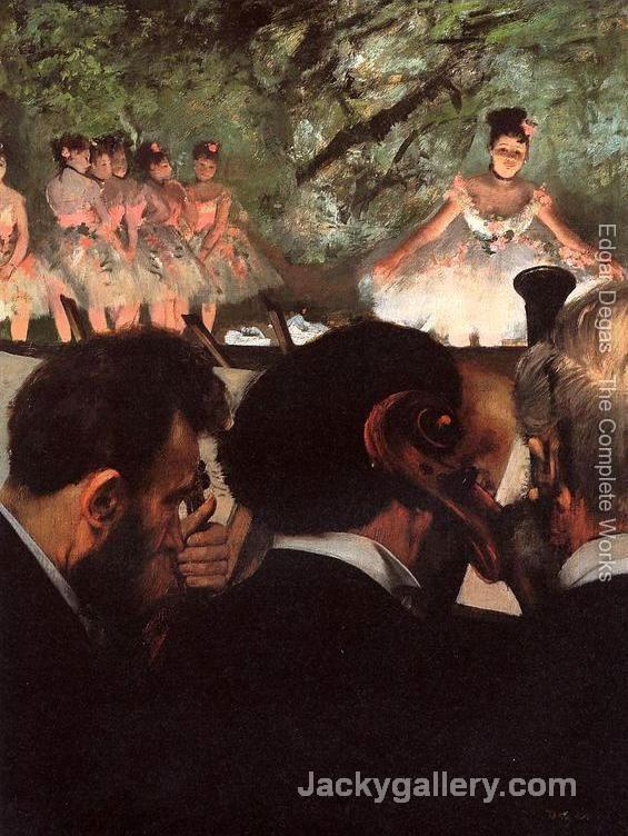 Musicians in the Orchestr by Edgar Degas paintings reproduction