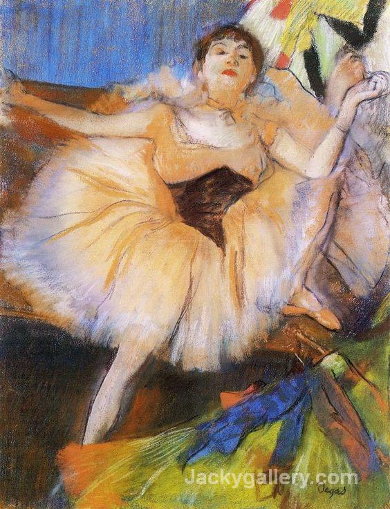 Seated Dancer by Edgar Degas paintings reproduction