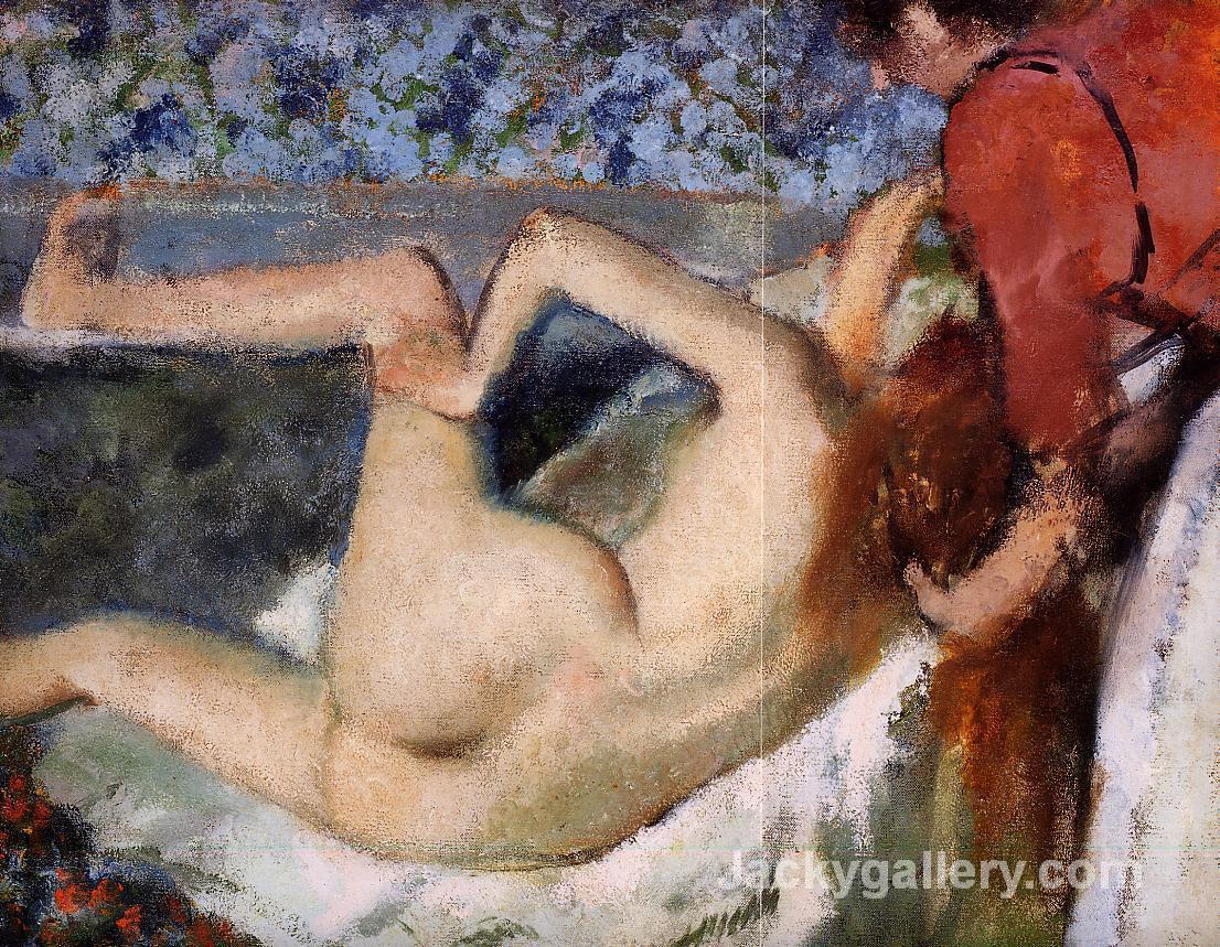 The Bath (Woman from Behind) by Edgar Degas paintings reproduction