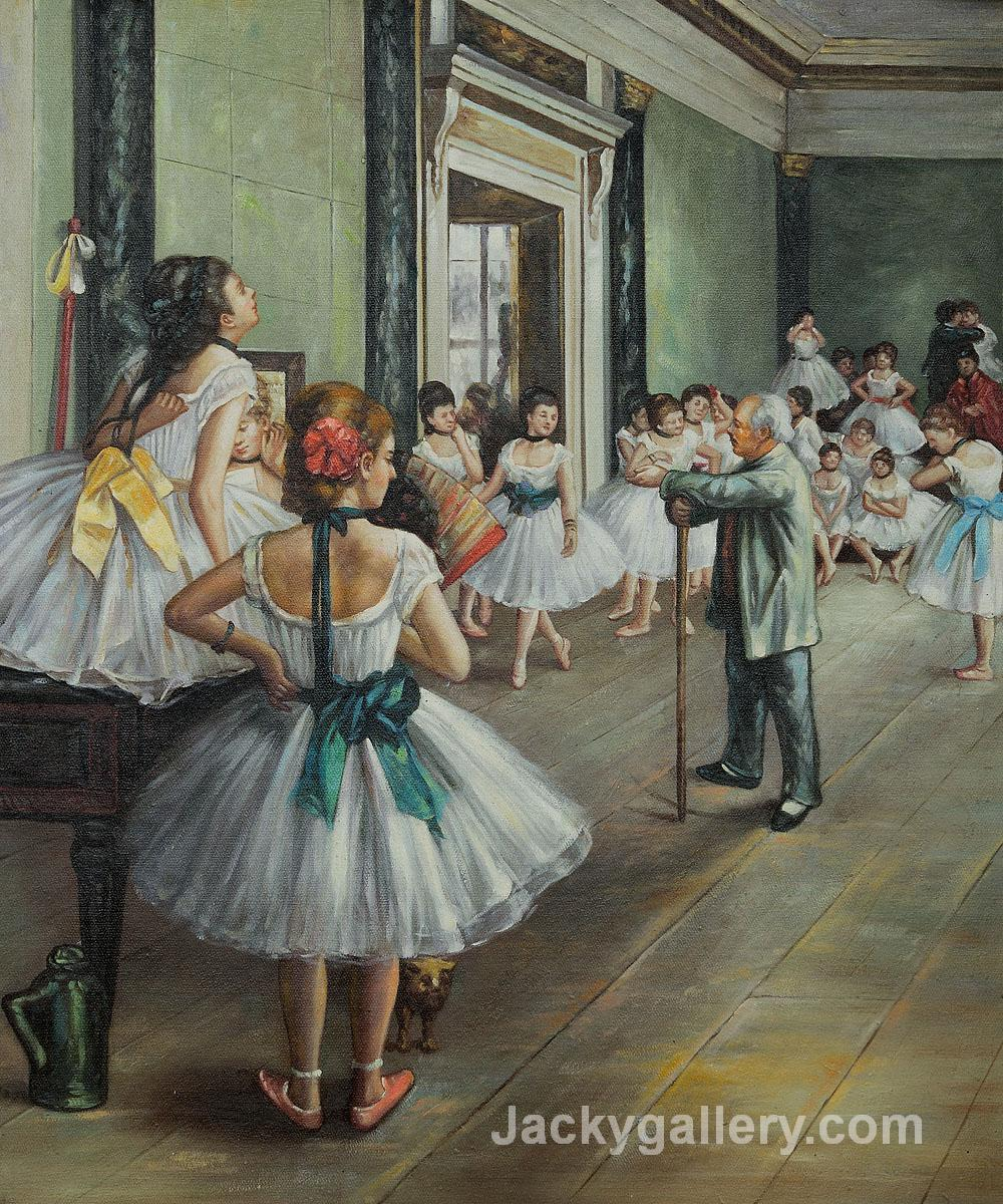 The Dance Class by Edgar Degas paintings reproduction