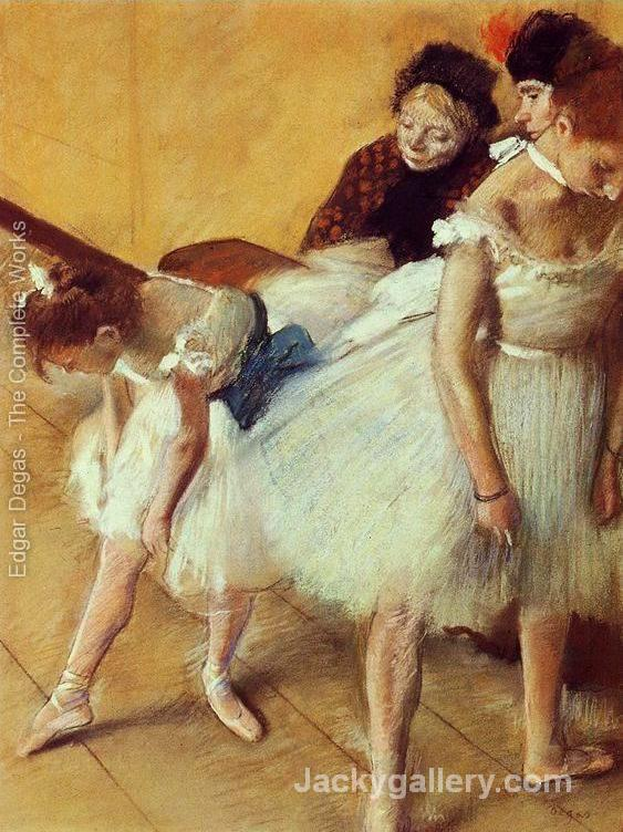 The Dance Examination by Edgar Degas paintings reproduction