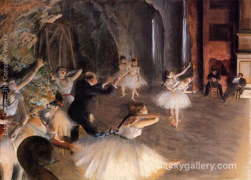 The Rehearsal on Stage by Edgar Degas paintings reproduction