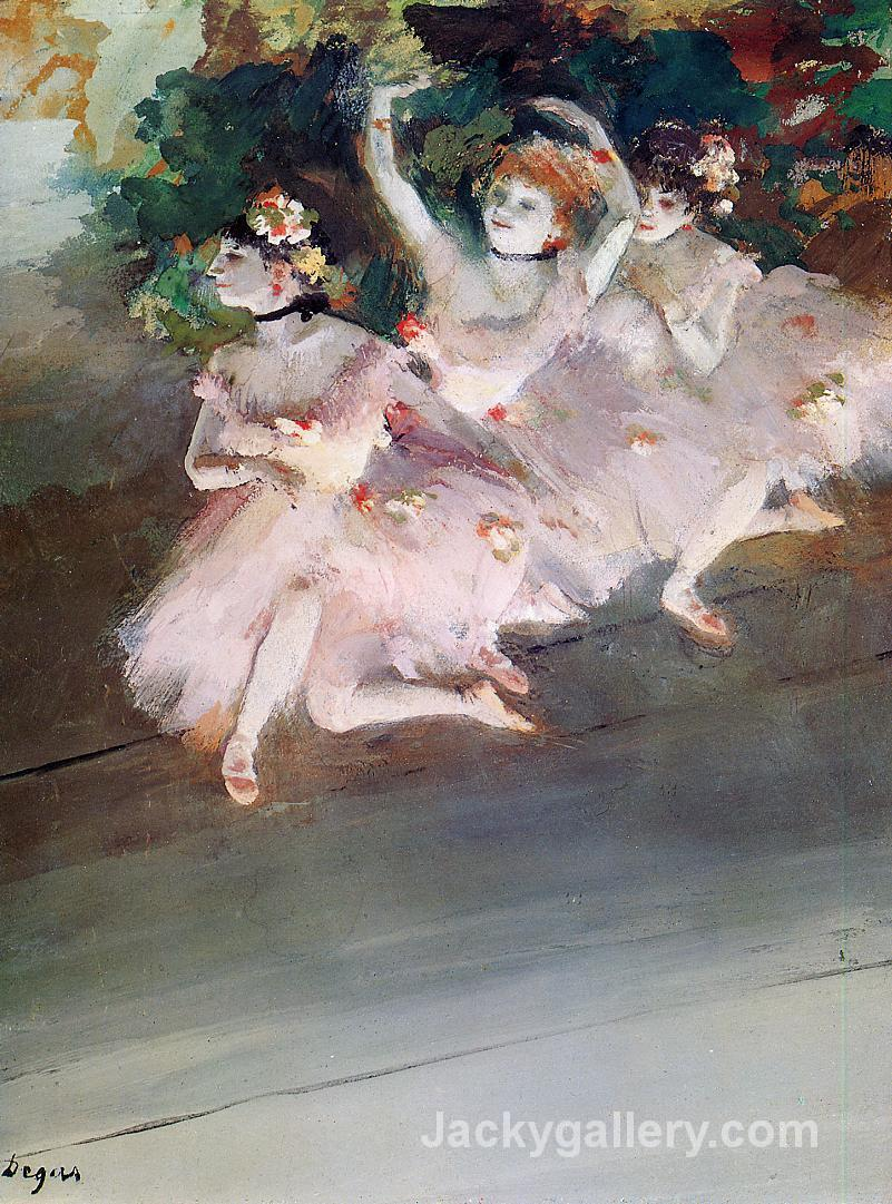 Three Ballet Dancers by Edgar Degas paintings reproduction